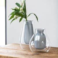 Suspended Round Grey Vase | Home Accessories